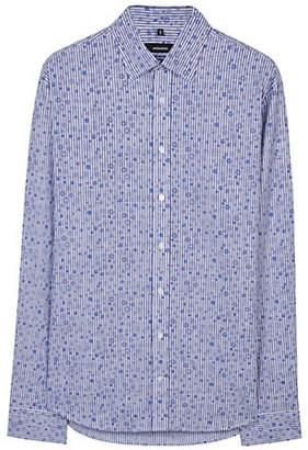 Seidensticker Floral Cotton Sport Shirt