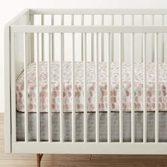 west elm Metallic Crib Skirt