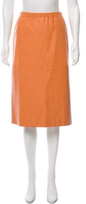 Marni Knee-Length Leather Skirt