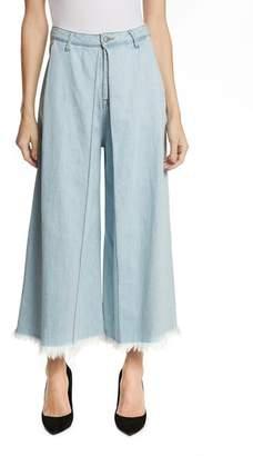 PRPS Javelin High Waist Crop Wide Leg Jeans