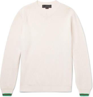 Stella McCartney Stripe-Trimmed Virgin Wool Sweater