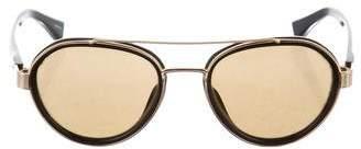 Dries Van Noten Linda Farrow x Round Tinted Sunglasses