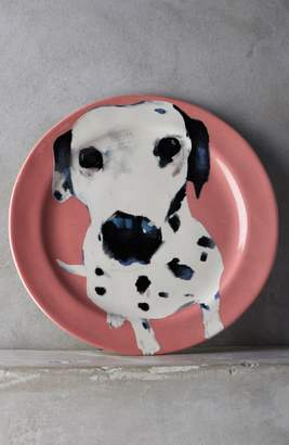 Anthropologie Dog-a-Day Stoneware Dessert Plate