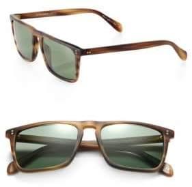 Oliver Peoples Men's Bernardo Rectangle Sunglasses - Matte Sandalwood
