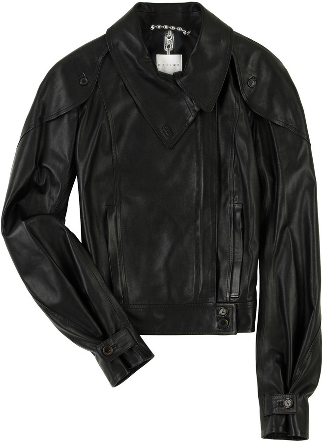 Celine Leather biker jacket