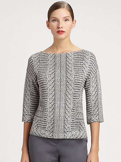 St. John Three-Quarter Sleeve Sweater