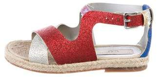 Stella McCartney Girls' Vegan Leather Metallic Sandals