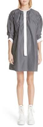 Marc Jacobs Vertical Stripe Drop Shoulder Dress