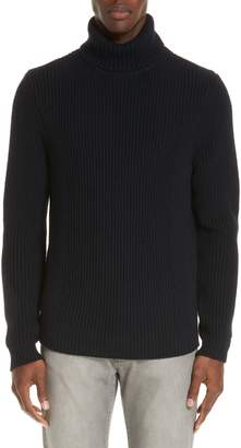 Eidos Ribbed Merino Wool Turtleneck Sweater