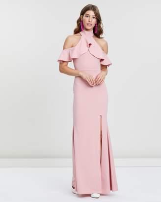 Missguided Frill Halterneck Maxi Dress
