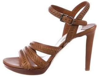 Miu Miu Leather Whipstitch Sandals