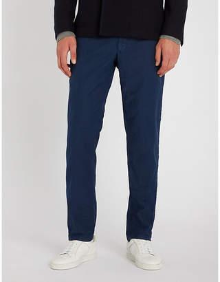 SLOWEAR Garment-dyed slim-fit stretch-cotton trousers