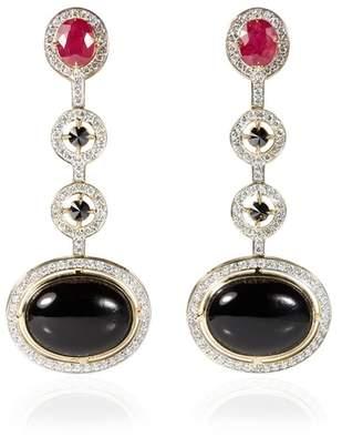 Rubie's Costume Co Ara Vartanian Black Quartz Earrings