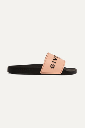 Givenchy Logo-print Rubber Slides - Antique rose