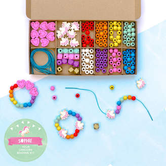 Cotton Twist Personalised Unicorn And Rainbow Bracelet Making Kit