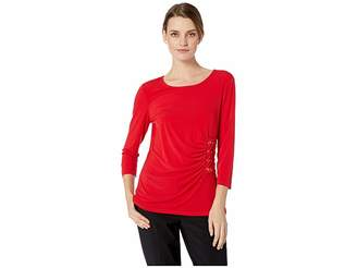 Calvin Klein 3/4 Sleeve Knit with Lacing