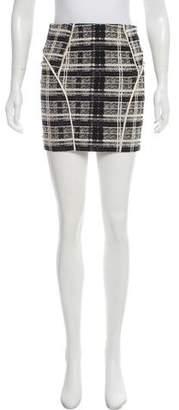 Marissa Webb Plaid Mini Skirt