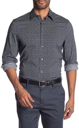 Perry Ellis Paisley Long Sleeve Slim Fit Shirt