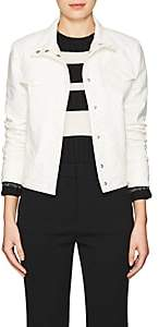 Lisa Perry Women's Snazzy Coated-Cotton Trucker Jacket - White
