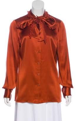 Tory Burch Button-Up Silk Top