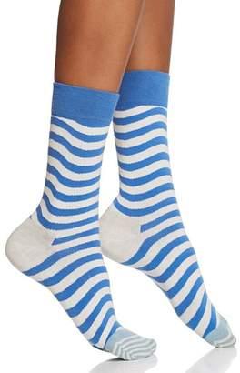 Happy Socks Wavy Stripe Crew Socks