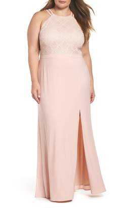 Morgan & Co. Lace Bodice Gown