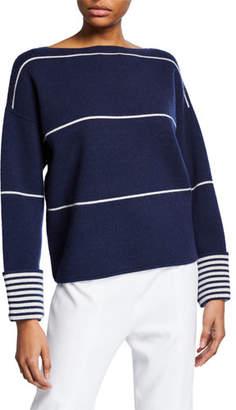 Club Monaco Esquinah Striped Cashmere Boat-Neck Sweater