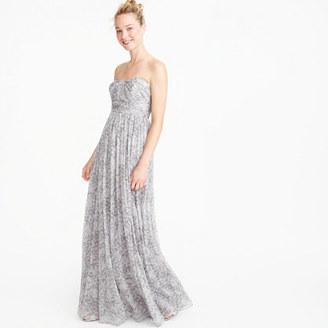 Marbella long dress in watercolor silk chiffon $298 thestylecure.com