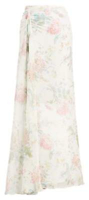Ralph Lauren Victoria Floral Silk Skirt Vanila Multi 2