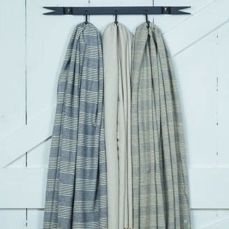 Tolly McRae Alpaca Mix Striped Blanket Scarf / Giant Wrap