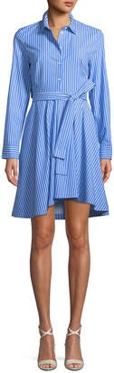 Club Monaco Shapira Striped Long-Sleeve Shirtdress