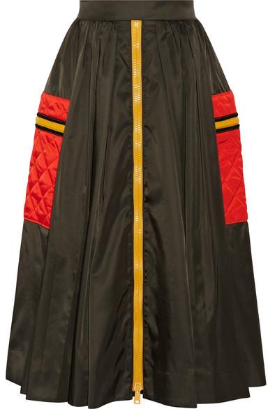 Prada - Gabardine Midi Skirt - Army green