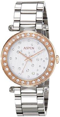 Aspen アスペンWomen 'sアナログダイヤル腕時計ホワイト