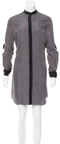 3.1 Phillip Lim 3.1 Phillip Lim Windowpane Print Long Sleeve Shirtdress