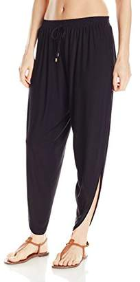 Laundry by Shelli Segal Women's Solid Draped Cover up Pant
