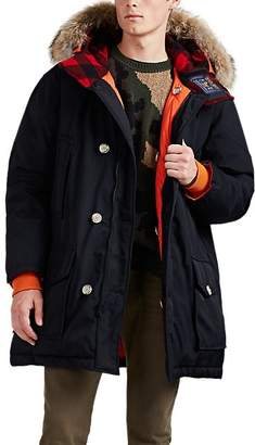 Woolrich GRIFFIN x Men's Atlantic Reversible Fur-Trimmed Down Parka - Black