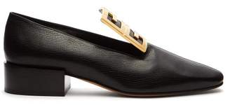 Givenchy 4g Block Heel Leather Loafers - Womens - Black