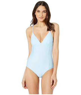 Splendid Solid Removable Soft Cup One-Piece Swimsuit