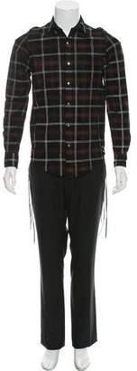 Amiri Plaid Leather Shirt w/ Tags