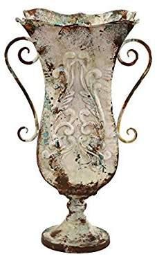 Benzara Durable Metal Vase with Antique Magnificence