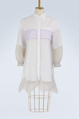 Prada Multi-layered shirt-dress