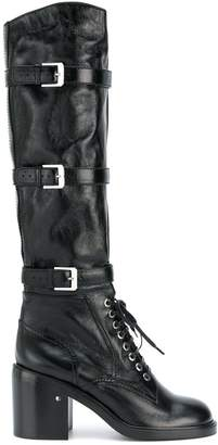 Laurence Dacade buckled knee high boots