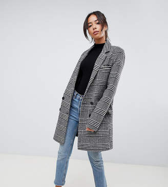 Asos Tall DESIGN Tall slim coat in check