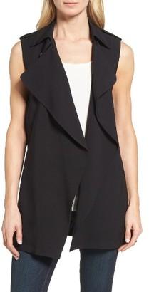 Women's Catherine Catherine Malandrino Ossie Long Vest $98 thestylecure.com