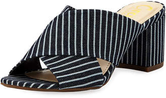 Sam Edelman Stevie Striped Fabric Mule
