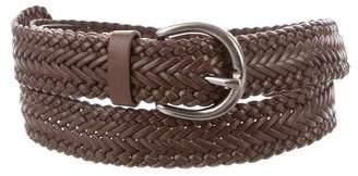 Frye Woven Leather Belt