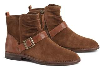 Trask Selma Suede Side Buckle Ankle Boot