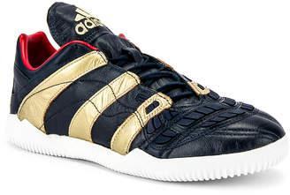 adidas Football Football Predator Accelerator Zidane Sneaker in Gold Metallic & Black | FWRD