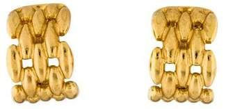 Christian Dior Woven Clip-On Earrings