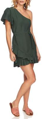1 STATE 1.STATE One-Shoulder Fit & Flare Dress
